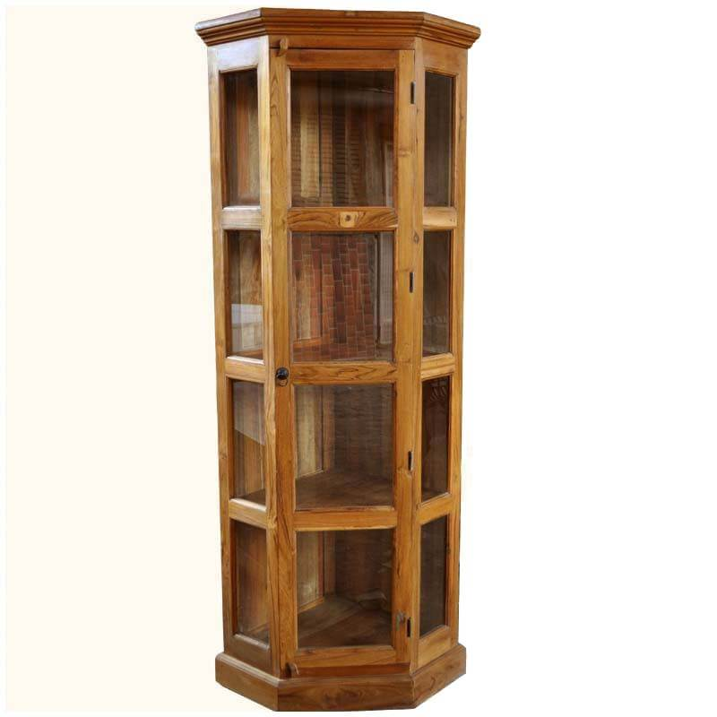 Philadelphia Classic Semi Circle Wood amp Glass Curio Cabinet