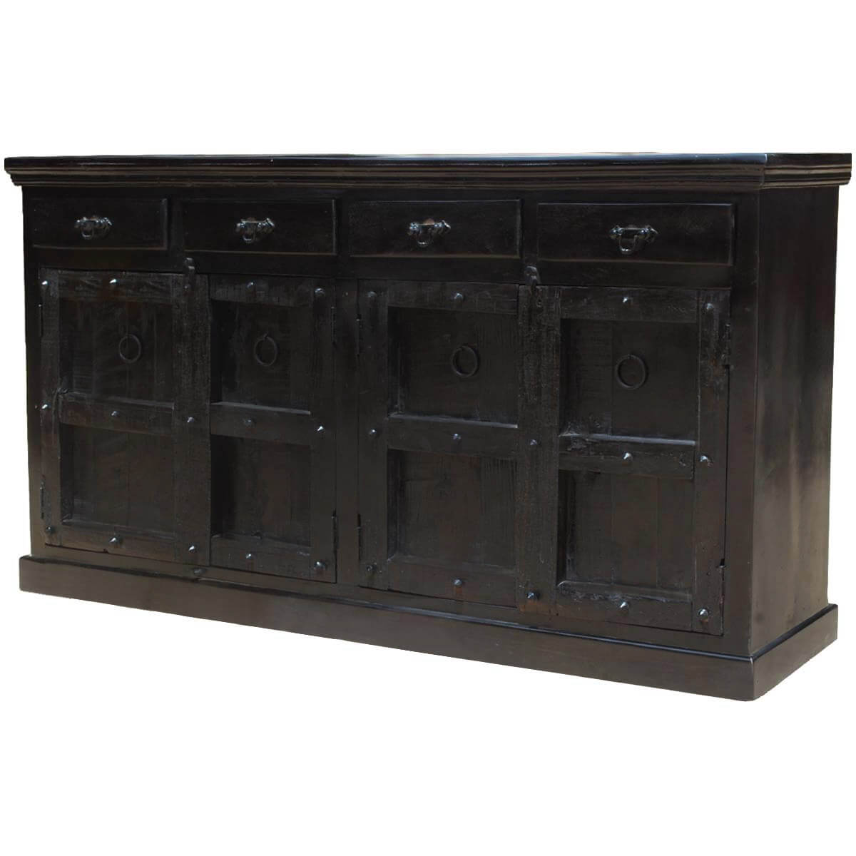 Black Wood Buffet Cabinet ~ Kansas city solid wood drawer black sideboard