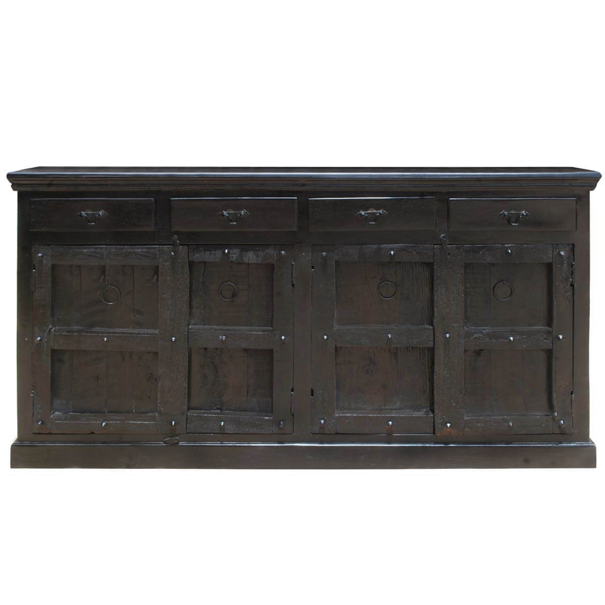 Black Wood Buffets ~ Kansas city solid wood drawer black sideboard