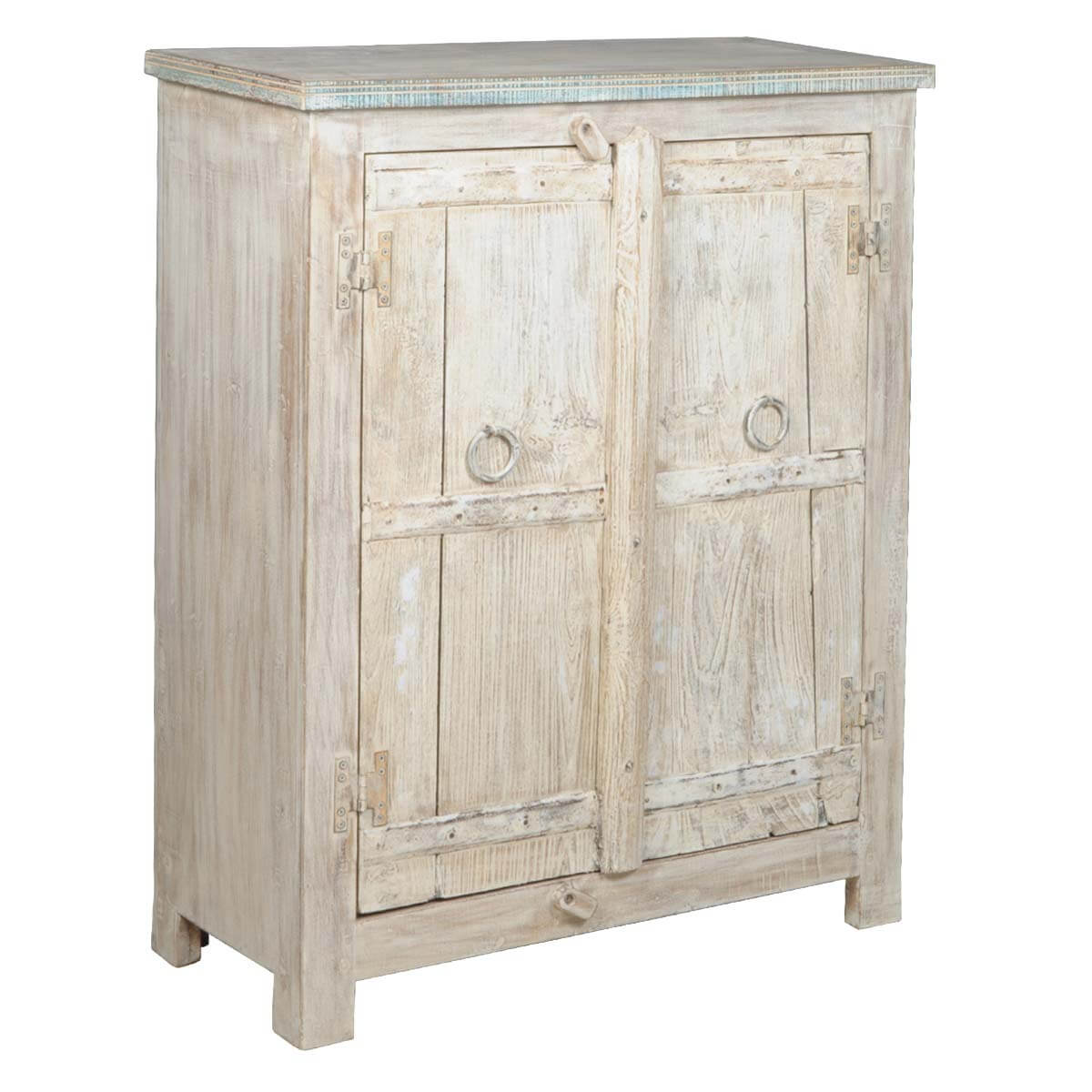 Rustic Antique White Kitchen Cabinets: Appalachian Rustic Antique White Reclaimed Wood Storage