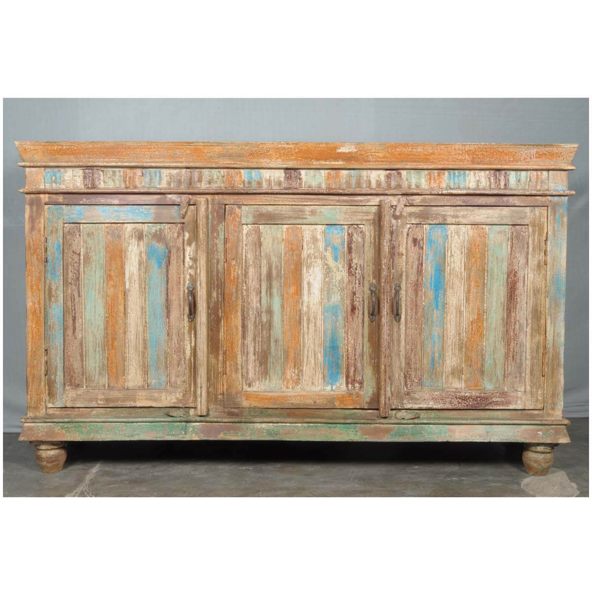 Rustic reclaimed wood farmhouse buffet sideboard storage
