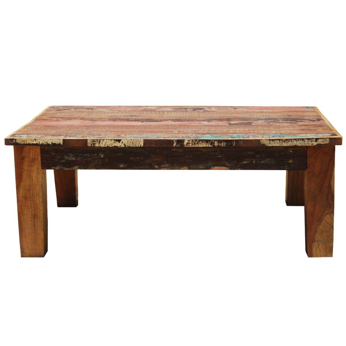 Appalachian rustic mixed reclaimed wood coffee table