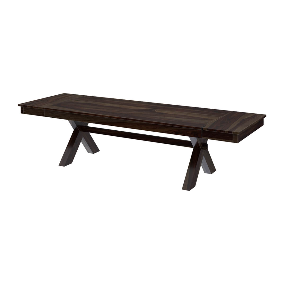 westside picnic style solid wood dining table with extensions