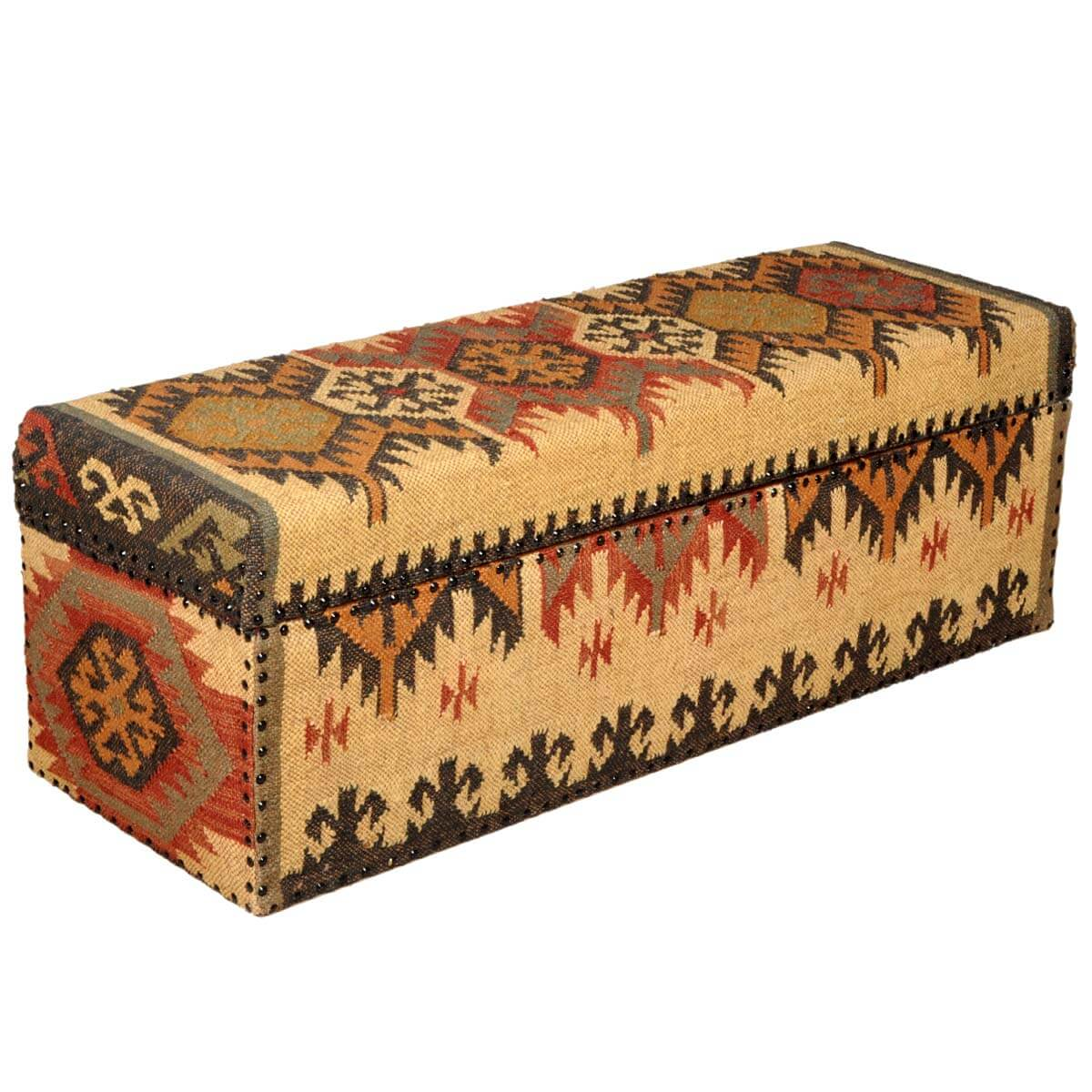 Native American Blanket Mango Wood amp Fabric Coffee Table Chest