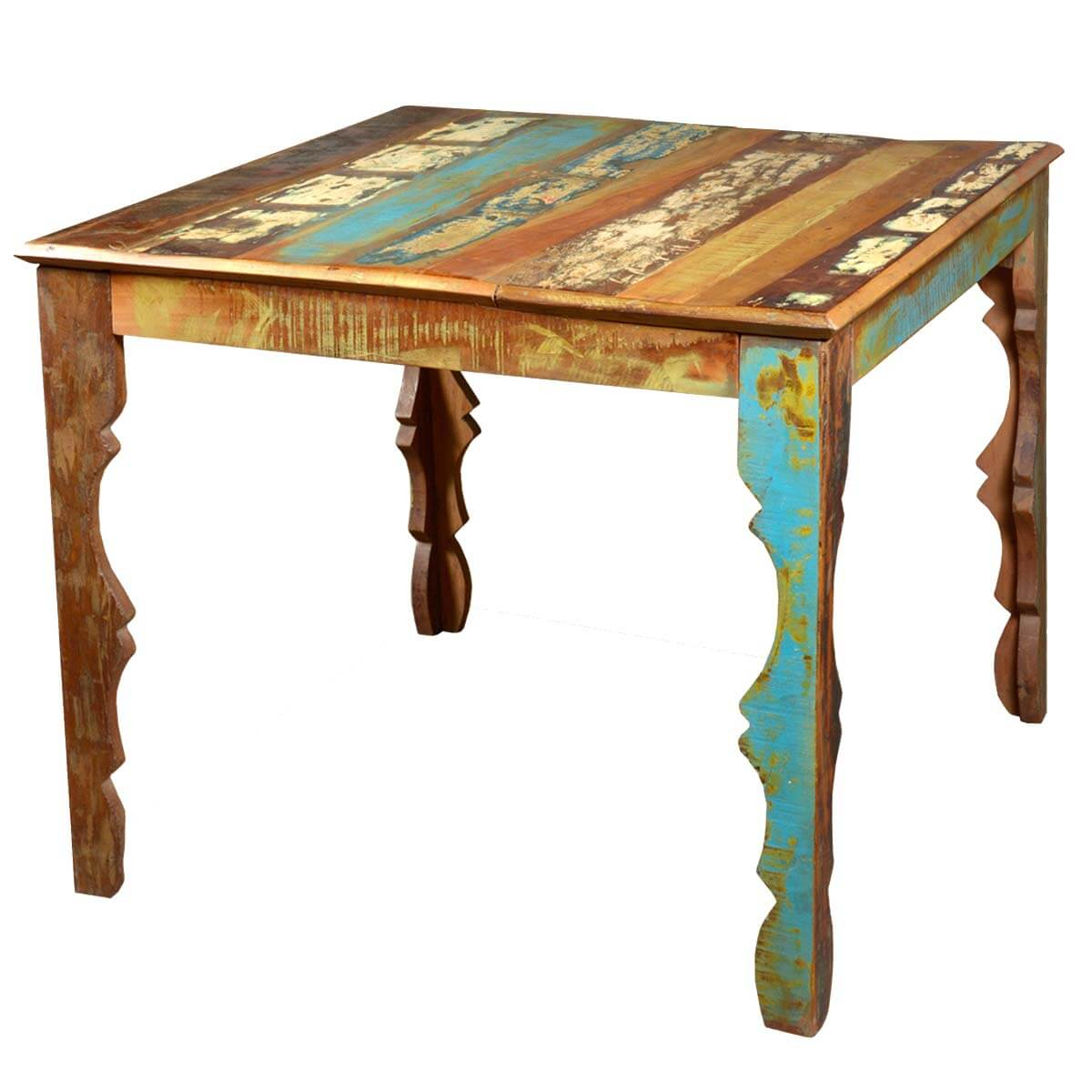 Rustic Reclaimed Wood 36quot Square Dining Table w Decorative  : 43522 from www.sierralivingconcepts.com size 1200 x 1200 jpeg 120kB