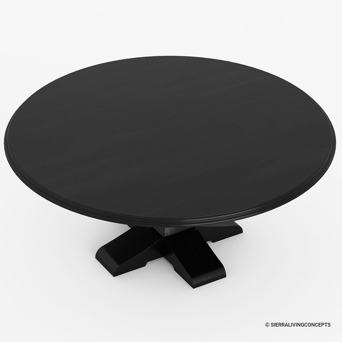 Sierra nevada rustic solid wood large round dining table for 10 person round table dimensions