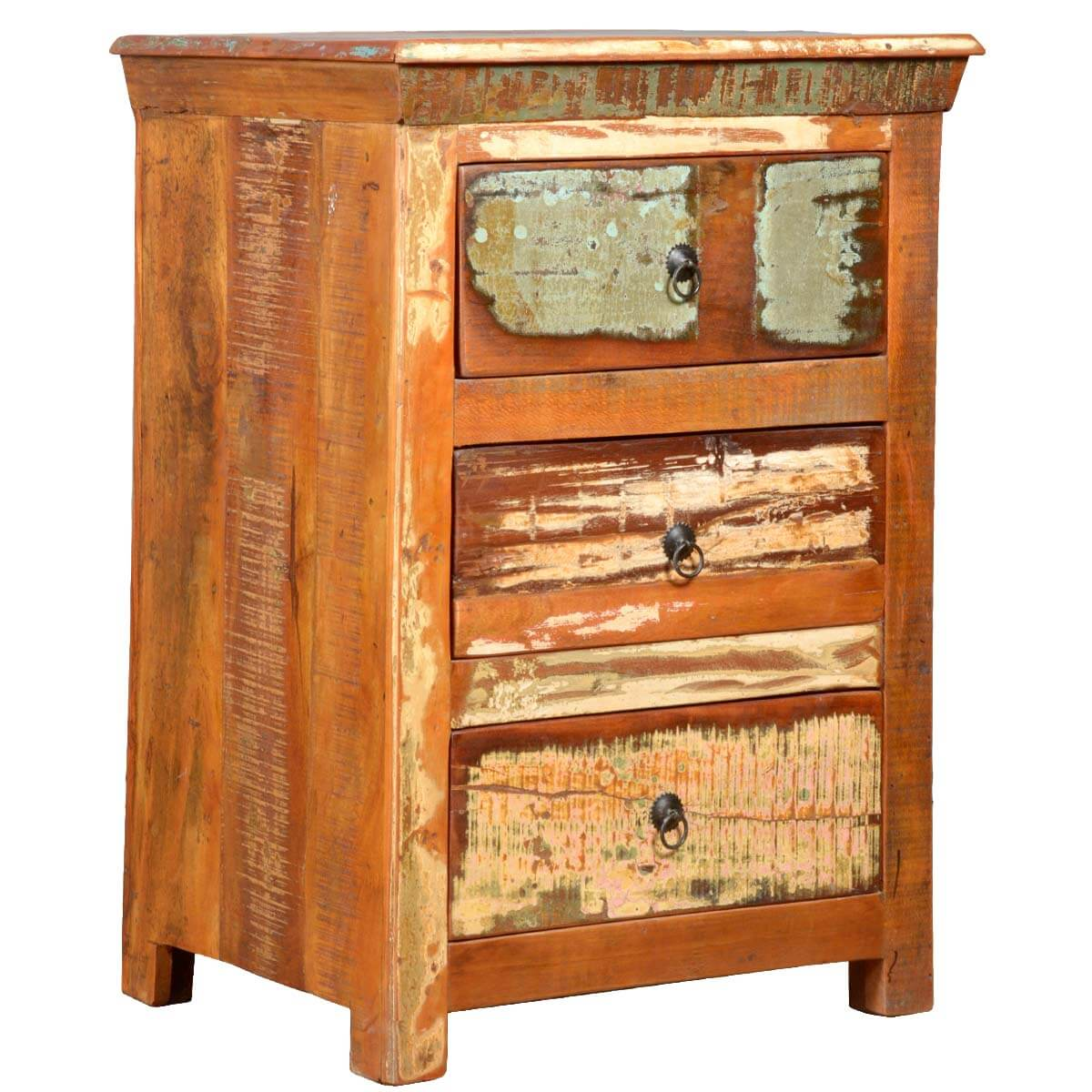 Rustic reclaimed wood mini chest of drawers dresser