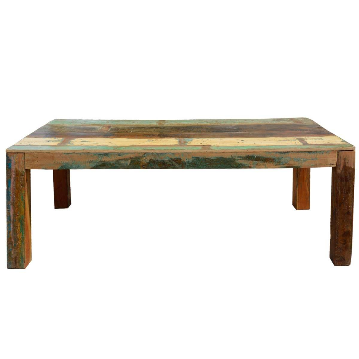 Appalachian rustic large reclaimed wood dining table for Biggest dining table