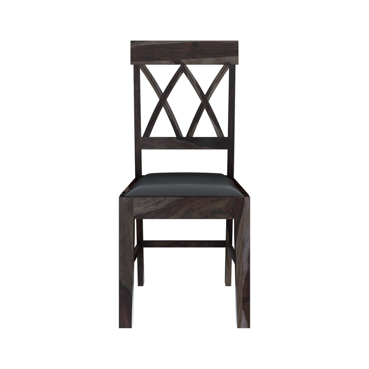 Sheraton pineapple back solid wood leather rustic dining for Wood and leather dining chair