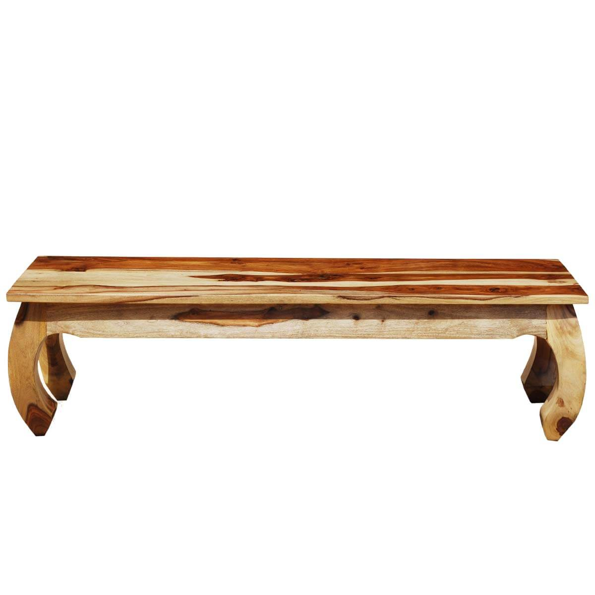 Solid Wood Inward Curved Legs Window Wooden Bench