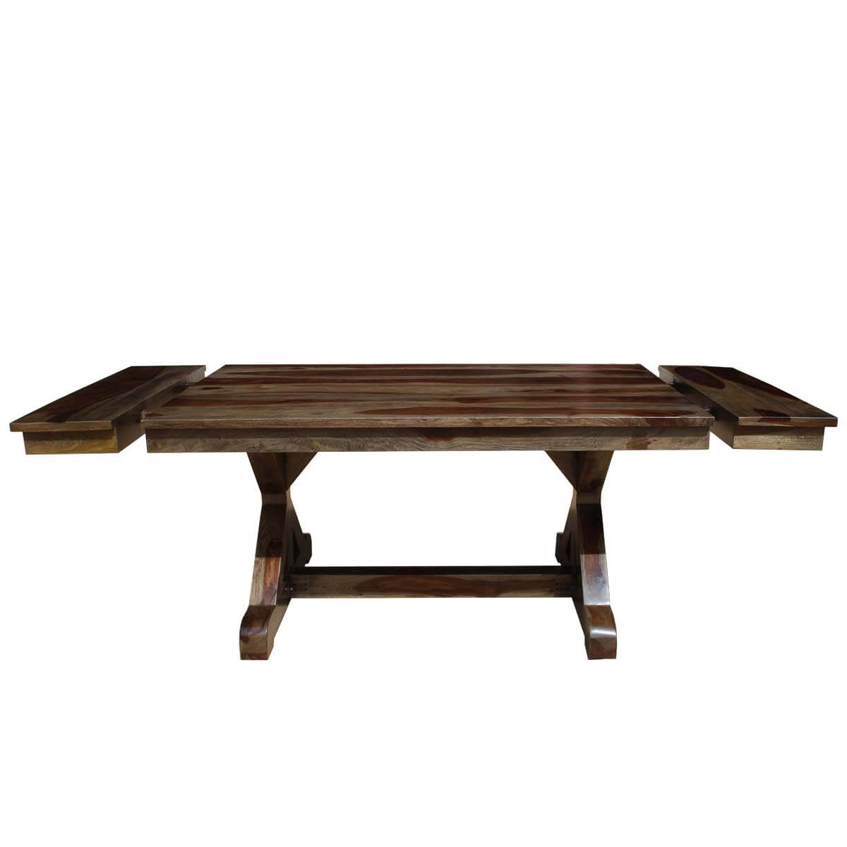McKay X Base Solid Wood Rustic Dining Table w Extension : 44221 from www.sierralivingconcepts.com size 1200 x 1200 jpeg 67kB