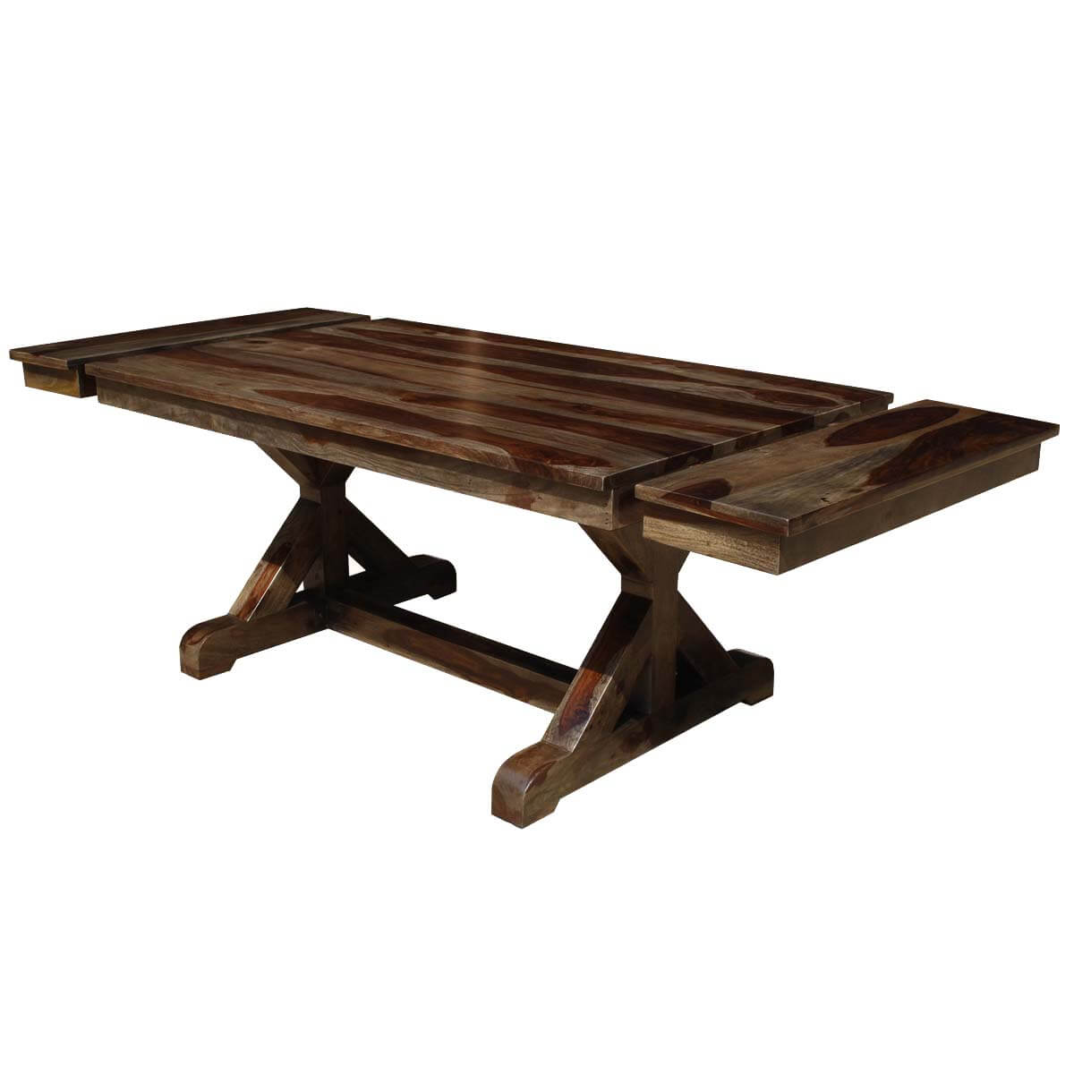 Wooden Dining Table Base ~ Antwerp base solid wood rustic extendable farmhouse