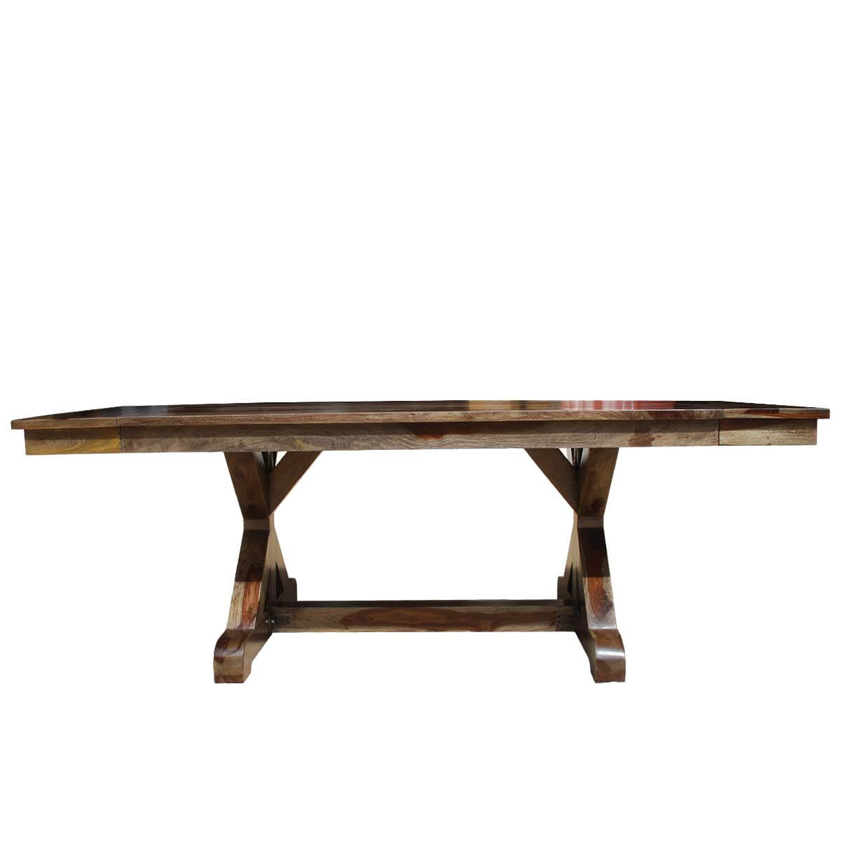 McKay X Base Solid Wood Rustic Dining Table w Extension : 44223 from sierralivingconcepts.com size 1200 x 1200 jpeg 65kB