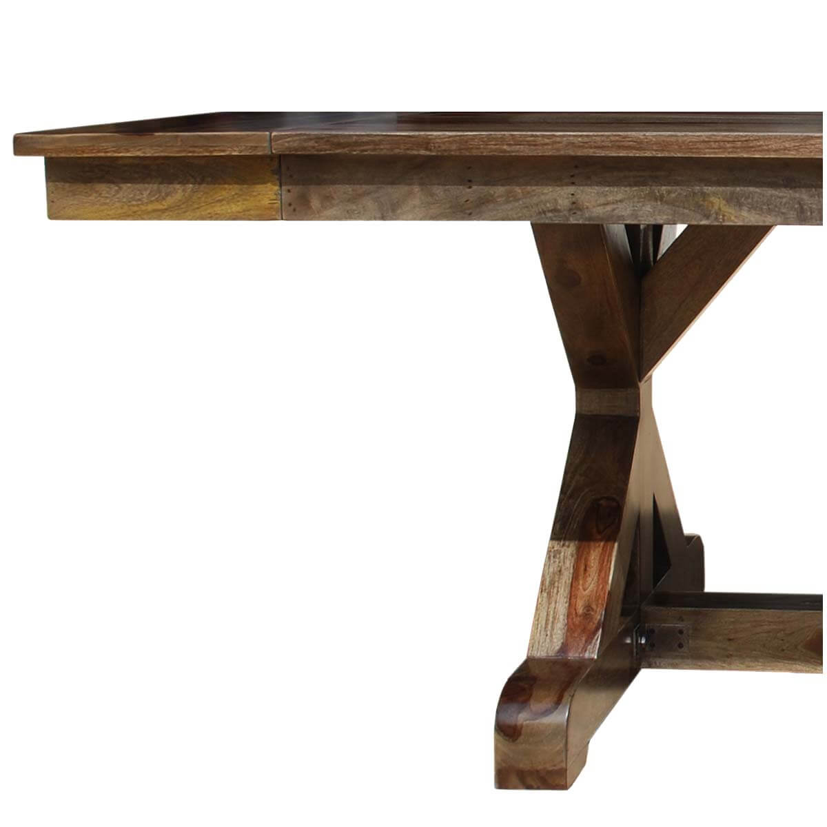 McKay X Base Solid Wood Rustic Dining Table w Extension : 44224 from www.sierralivingconcepts.com size 1200 x 1200 jpeg 79kB