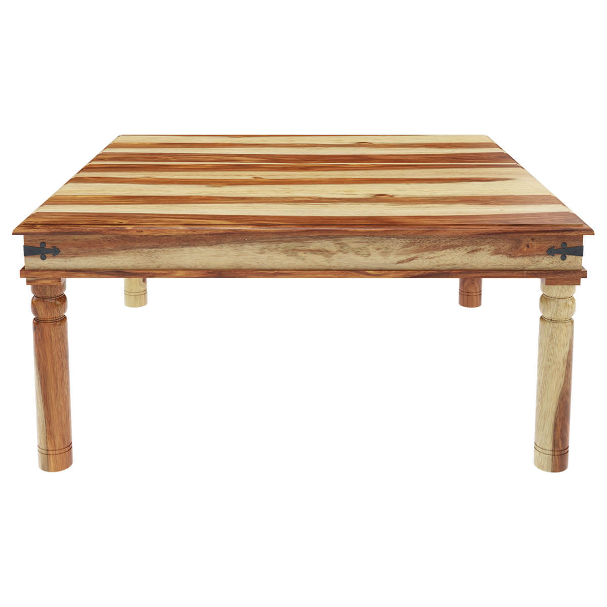 santa fe collection dallas ranch rustic solid wood square dining table