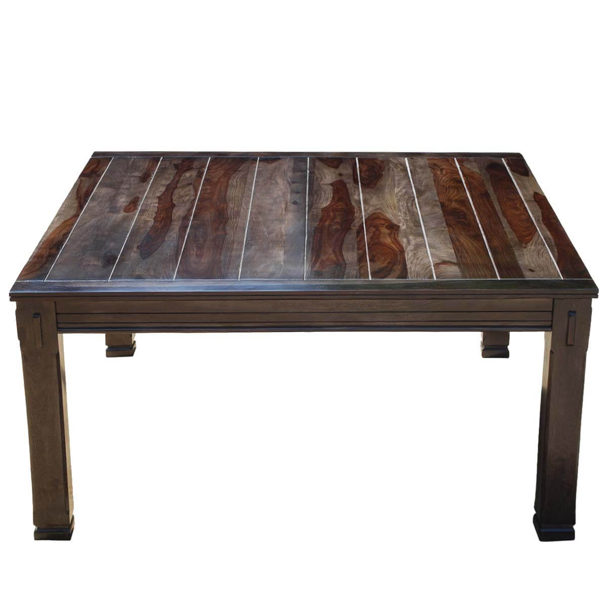 Santa Fe Transitional Rustic Solid Wood 64 Square Dining Table