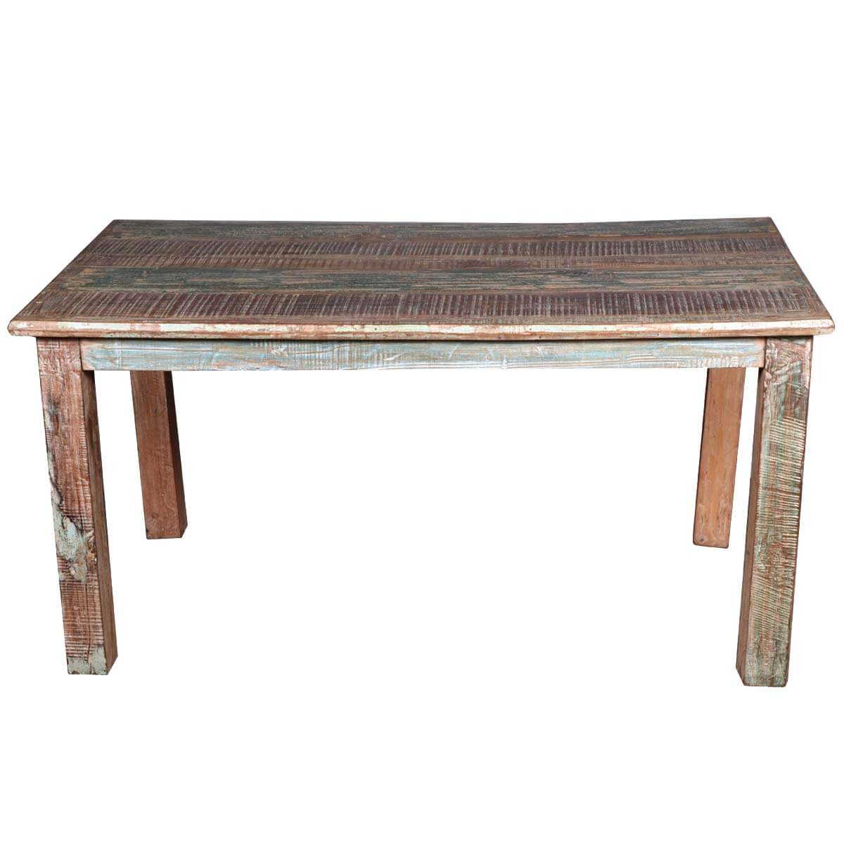 Distressed Kitchen Tables Distressed Rustic Dining Table