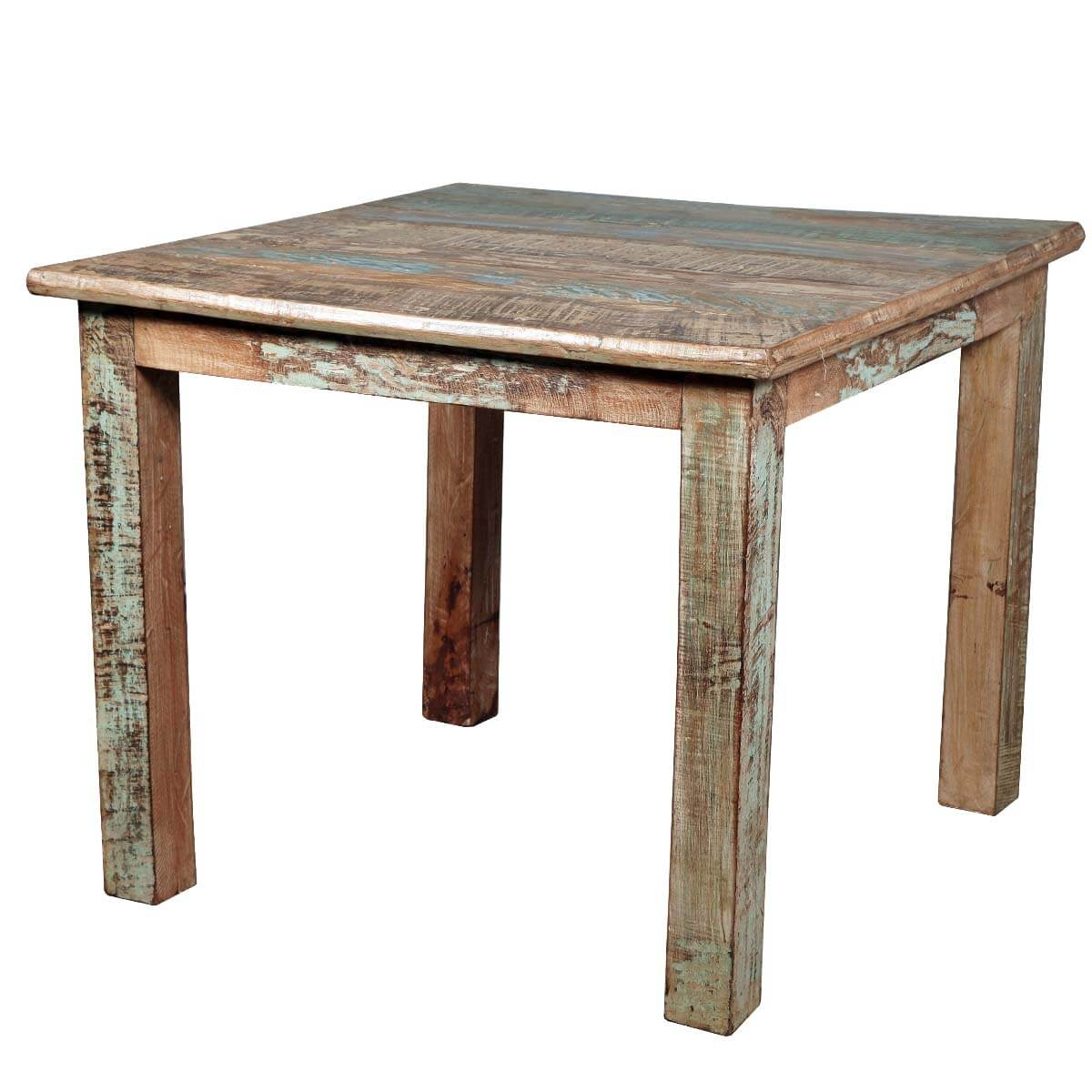 Rustic reclaimed wood distressed small kitchen dining table for Kitchen tables for small kitchens