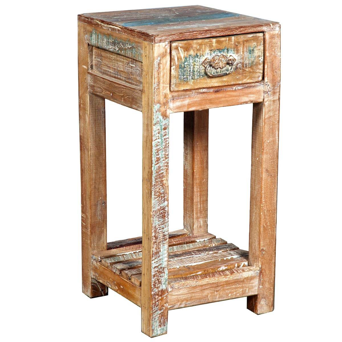 Reclaimed Wood End Tables ~ Appalachian rustic reclaimed wood night stand end table