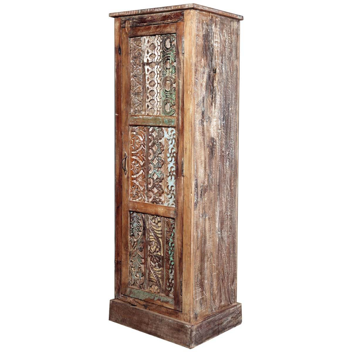 Very Impressive portraiture of Lace Front Reclaimed Wood 60 Armoire Cabinet with #AB8020 color and 1200x1200 pixels