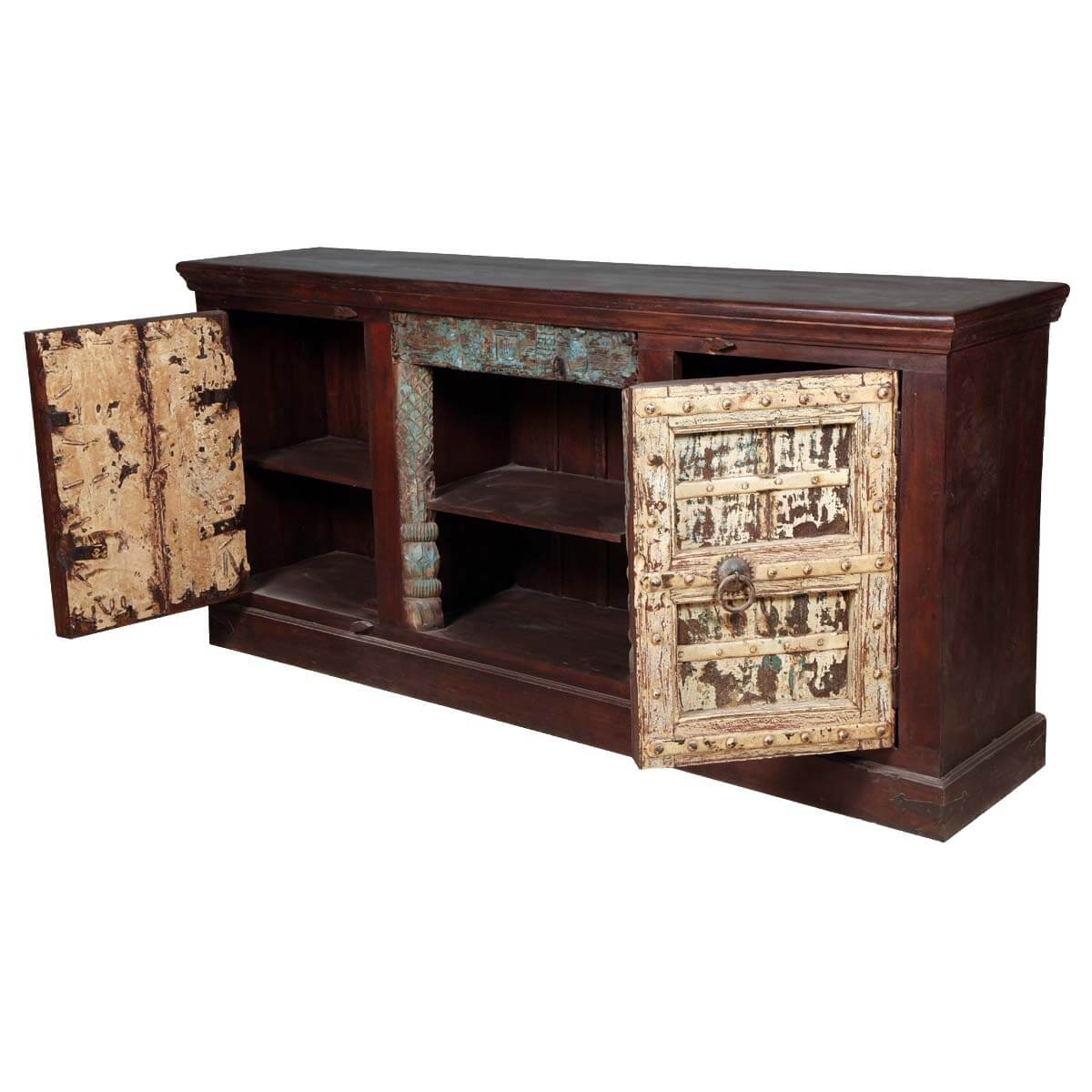 Nottingham Distressed Reclaimed Wood TV Media Console Cabinet