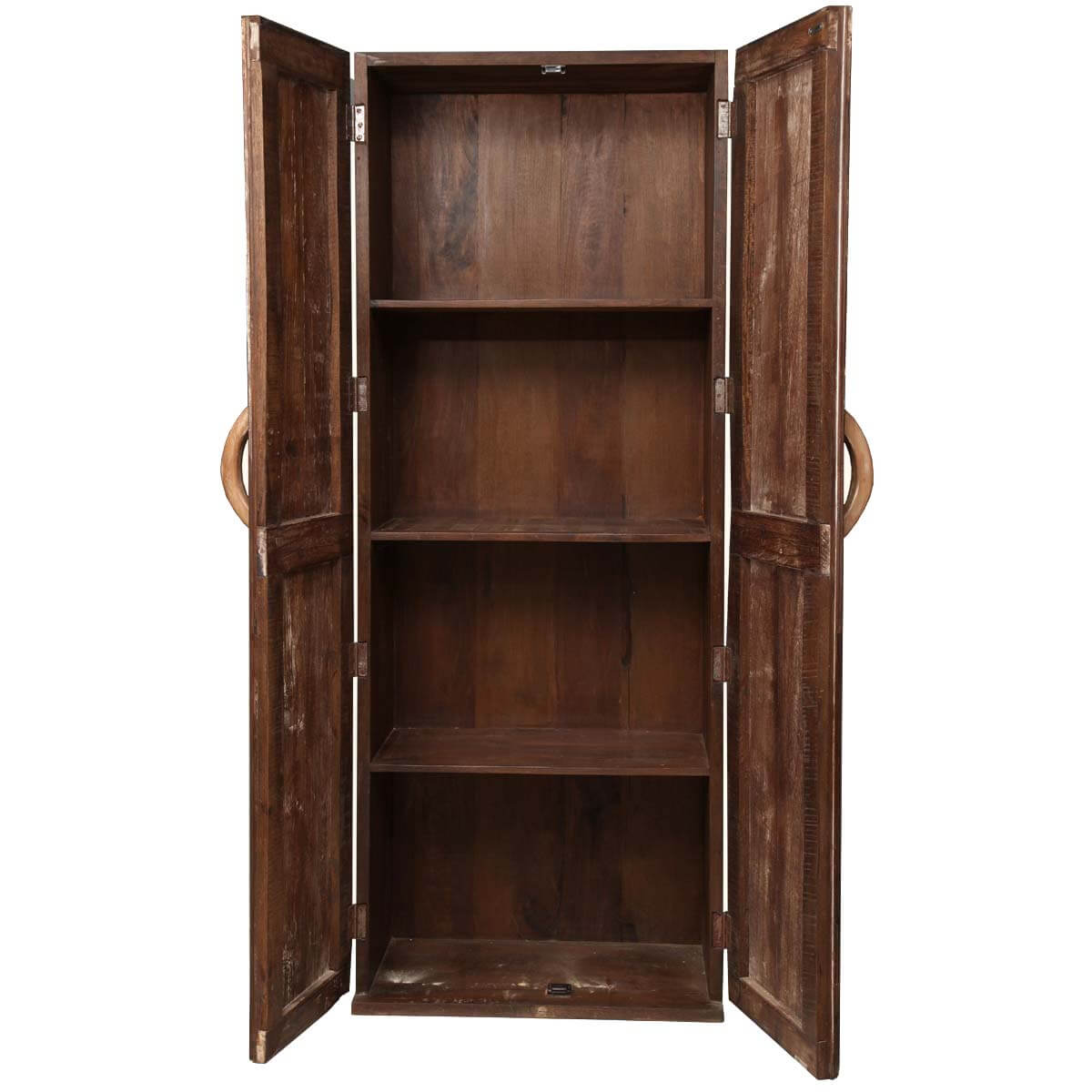 Appalachian rustic reclaimed wood wardrobe cabinet armoire