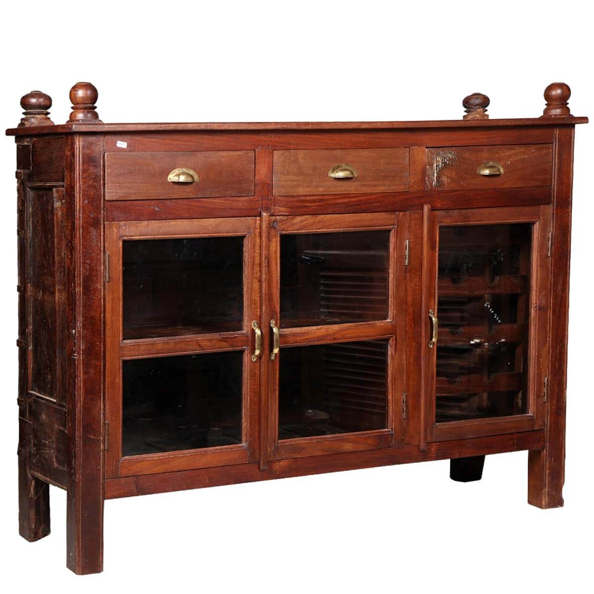 shaker solid wood glass door wine sideboard buffet cabinet. Black Bedroom Furniture Sets. Home Design Ideas