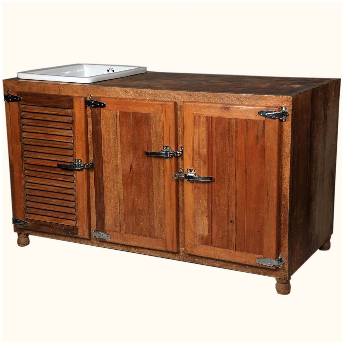 Kitchen Cabinet Solid Wood: Mission Solid Wood & Ceramic Wine Rack Kitchen Sink Cabinet