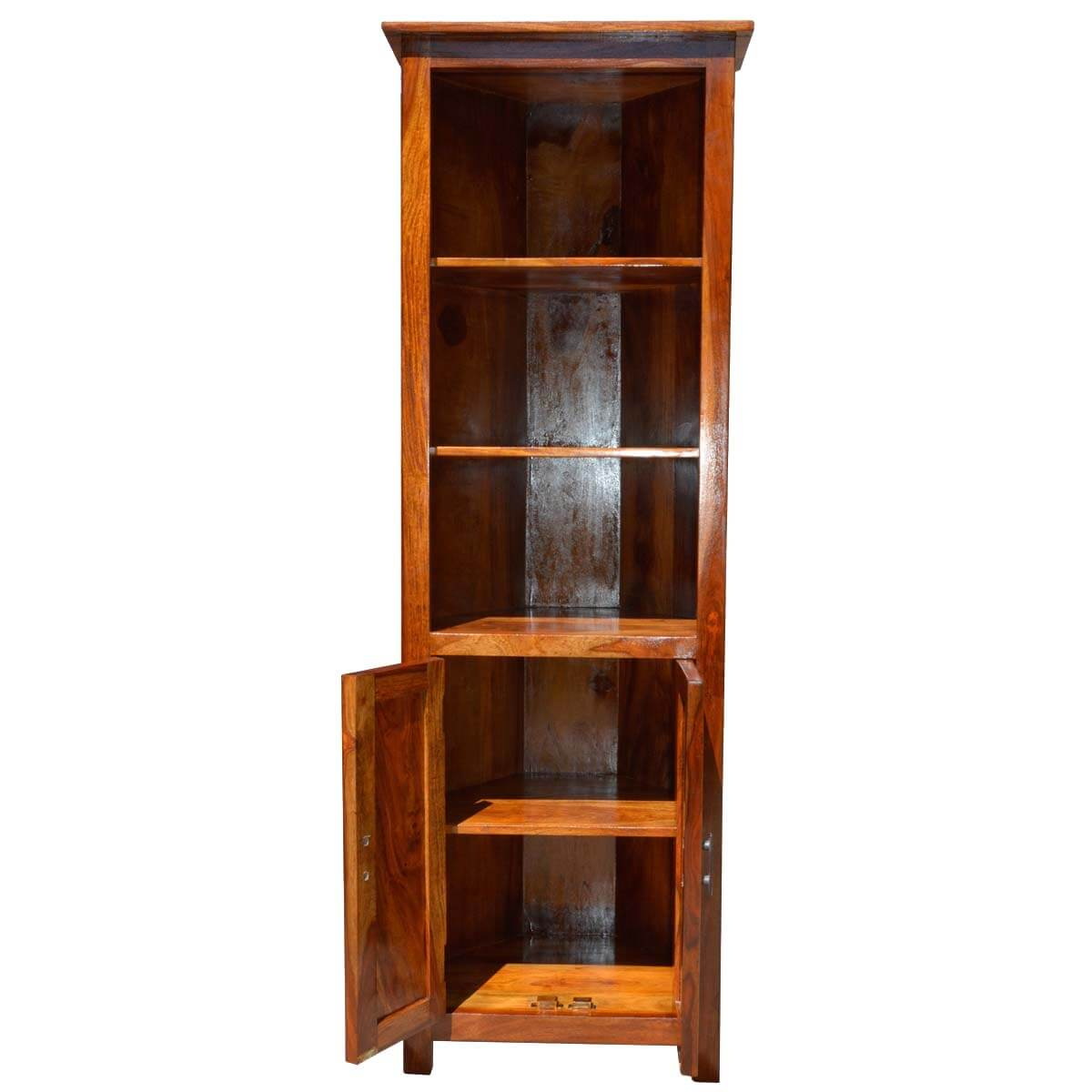 Shaker Solid Wood Open 3 Shelf Curio Cabinet