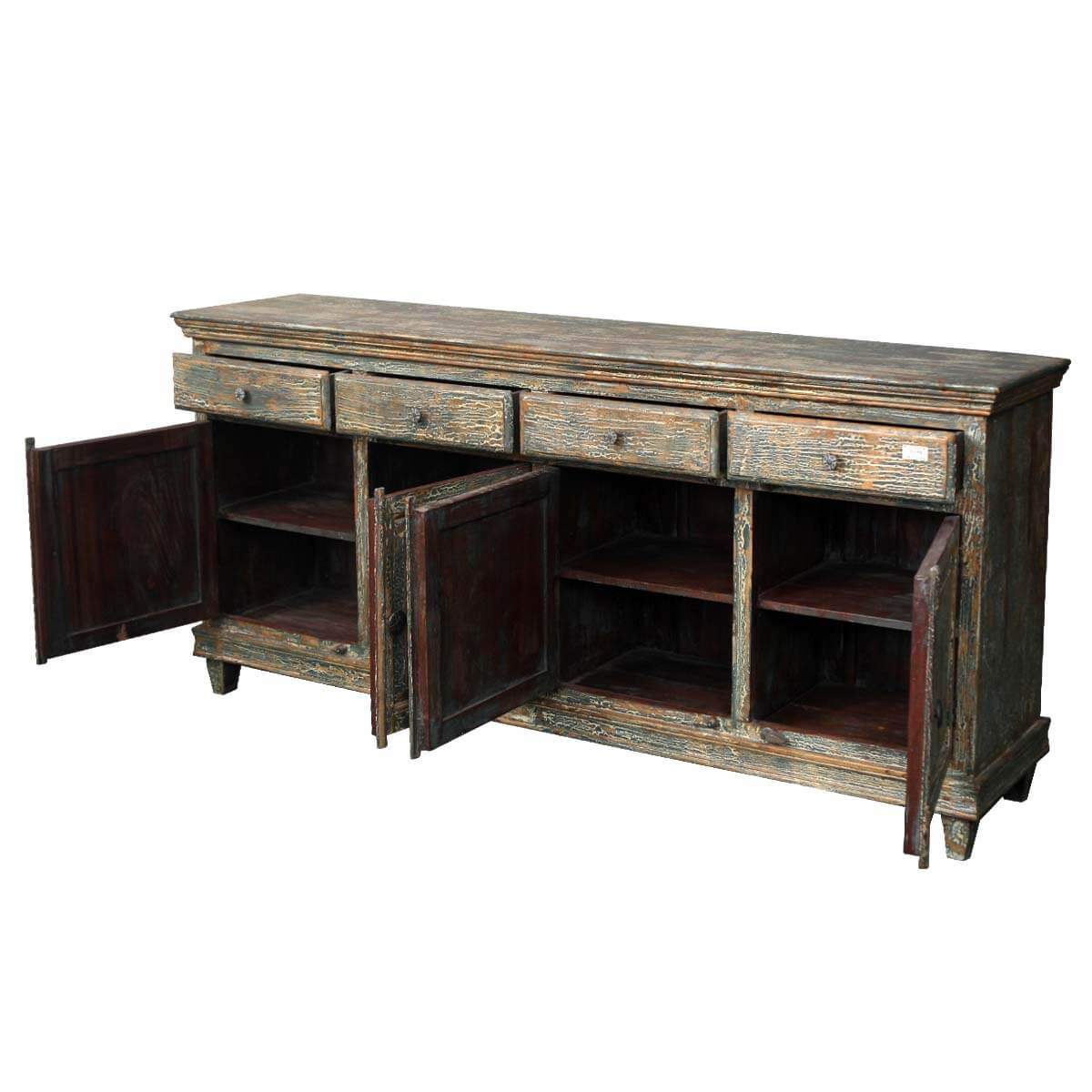 reclaimed wood furniture distressed shaker sideboard. Black Bedroom Furniture Sets. Home Design Ideas