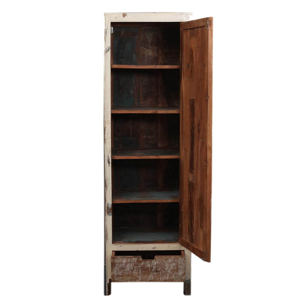 Superb img of  Distressed Reclaimed Wood Bottom Drawer Storage Cabinet Armoire with #B48317 color and 1200x1200 pixels