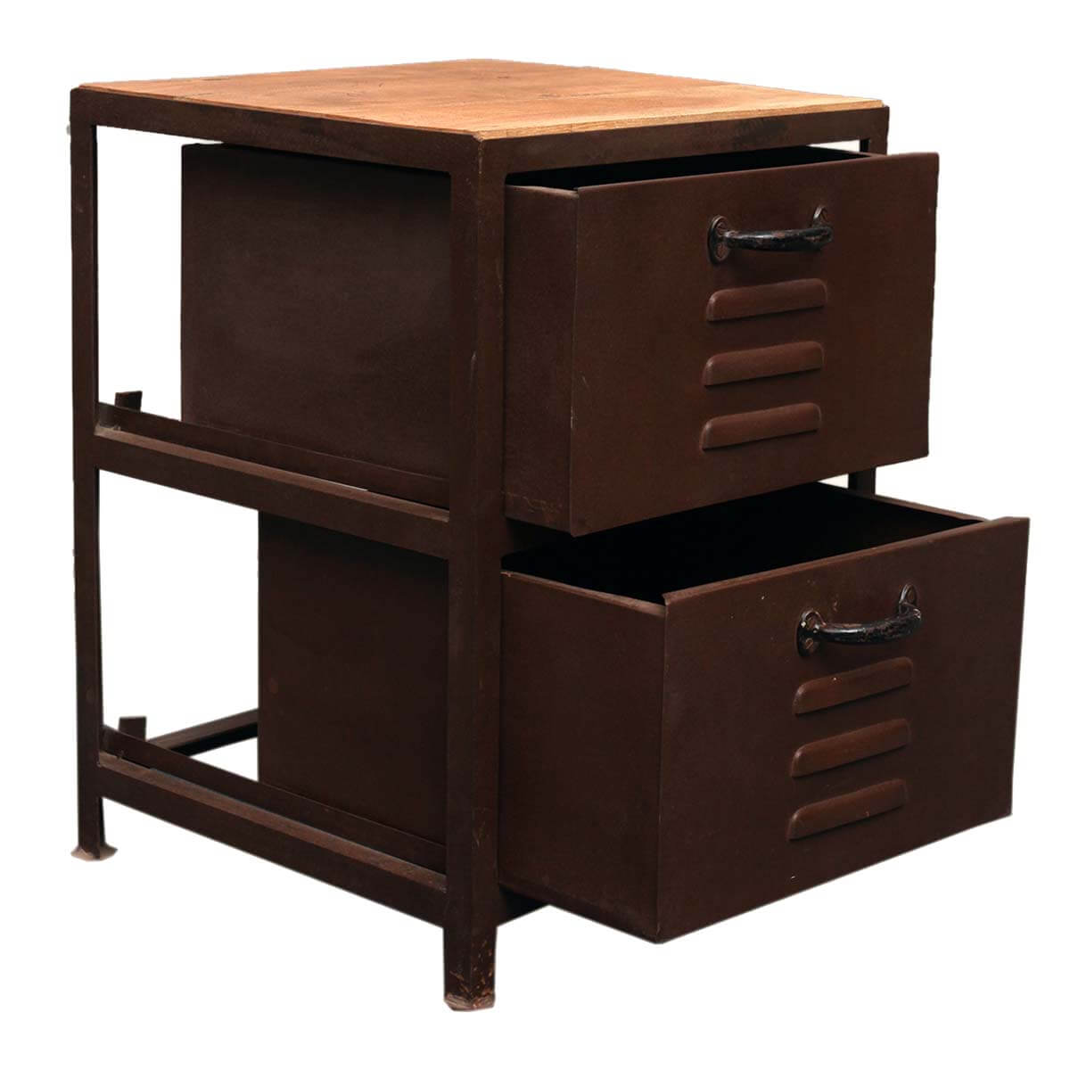Industrial 2 Drawer Iron File Cabinet Storage Unit W