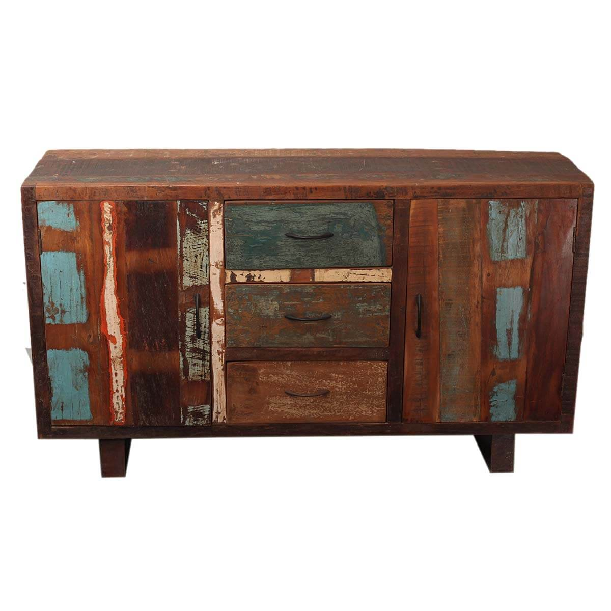 Reclaimed wood buffet sideboard door drawer cabinet w