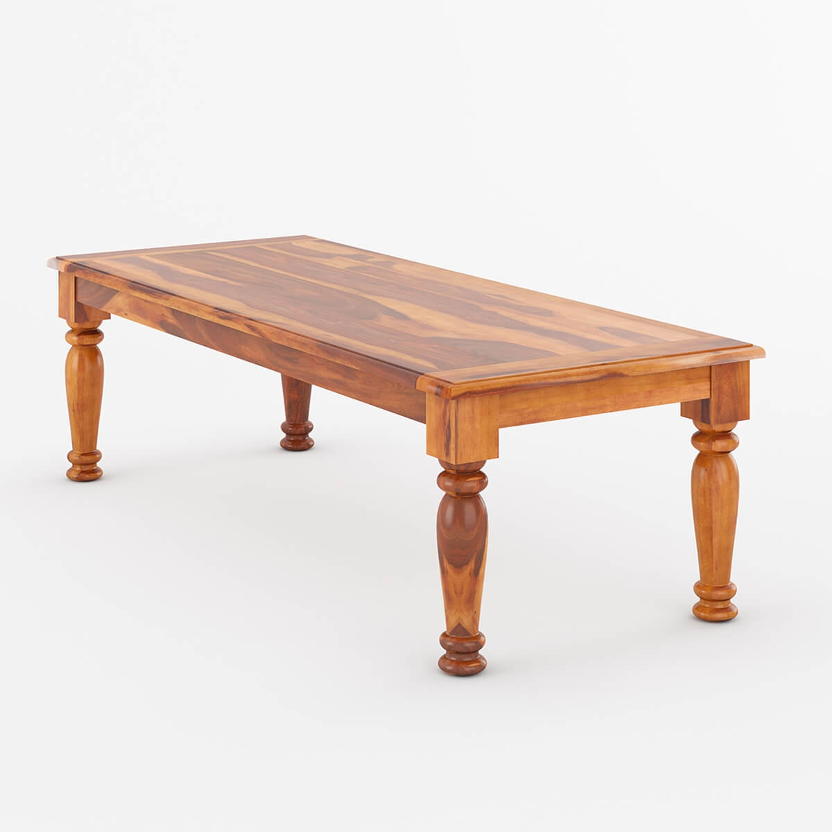 Rustic Large Solid Wood Rectangular Dining Table