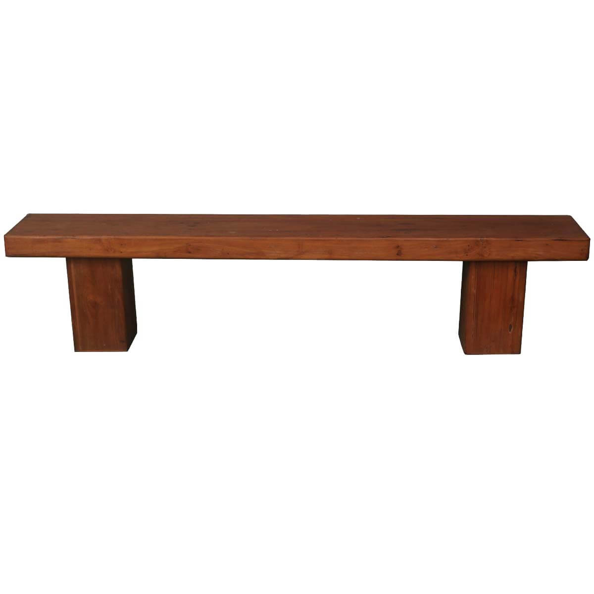 Contemporary solid wood 79 long dining bench Oak bench