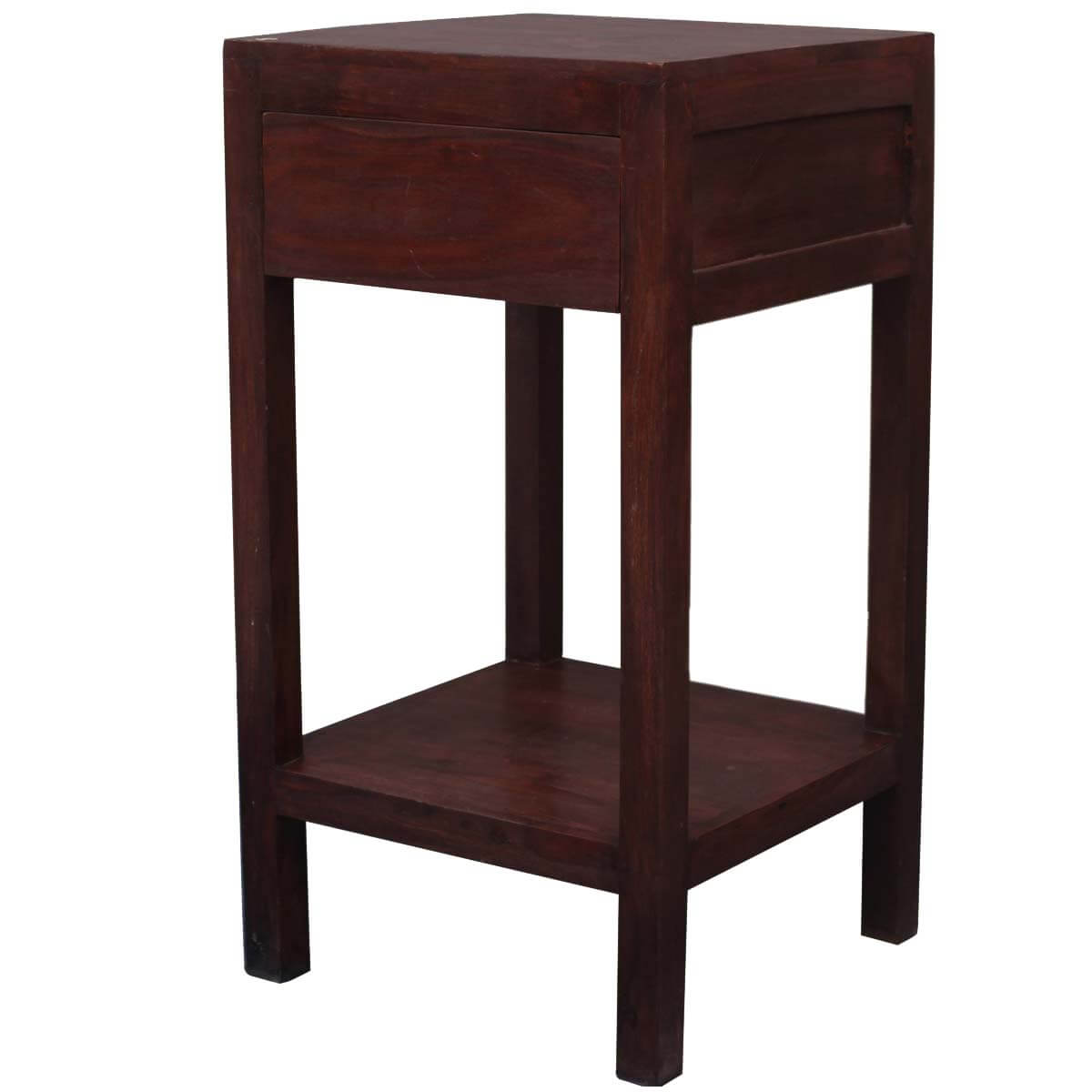 Contemporary Solid Wood Night Stand End Table