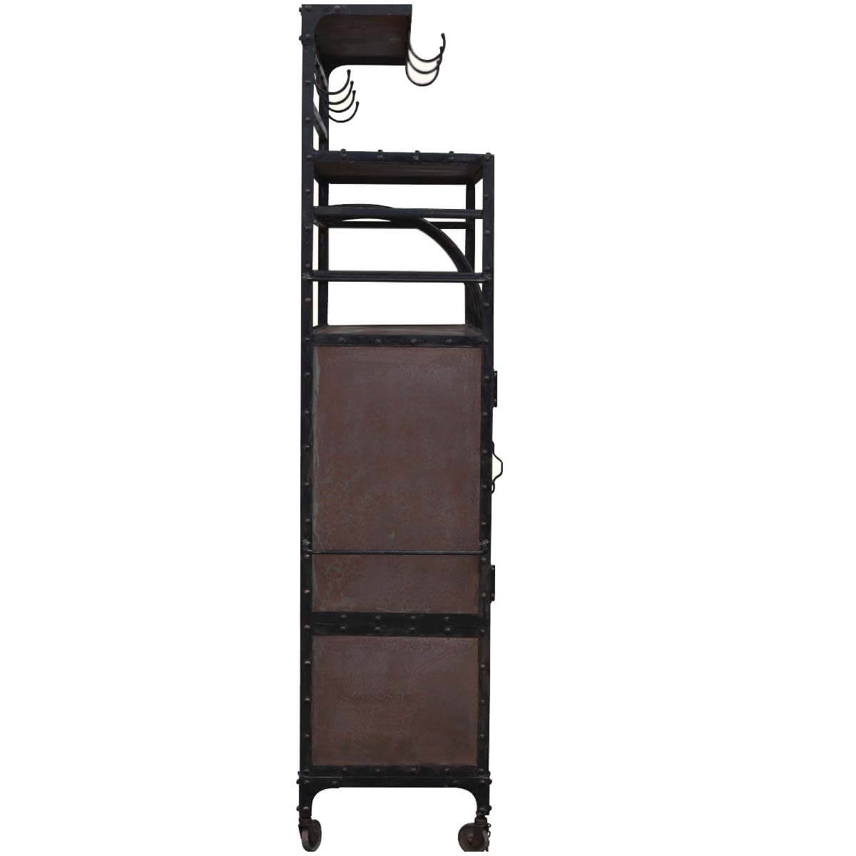 Cabinets Rack Industrial Iron Rolling Pantry Cabinet Rack Storage