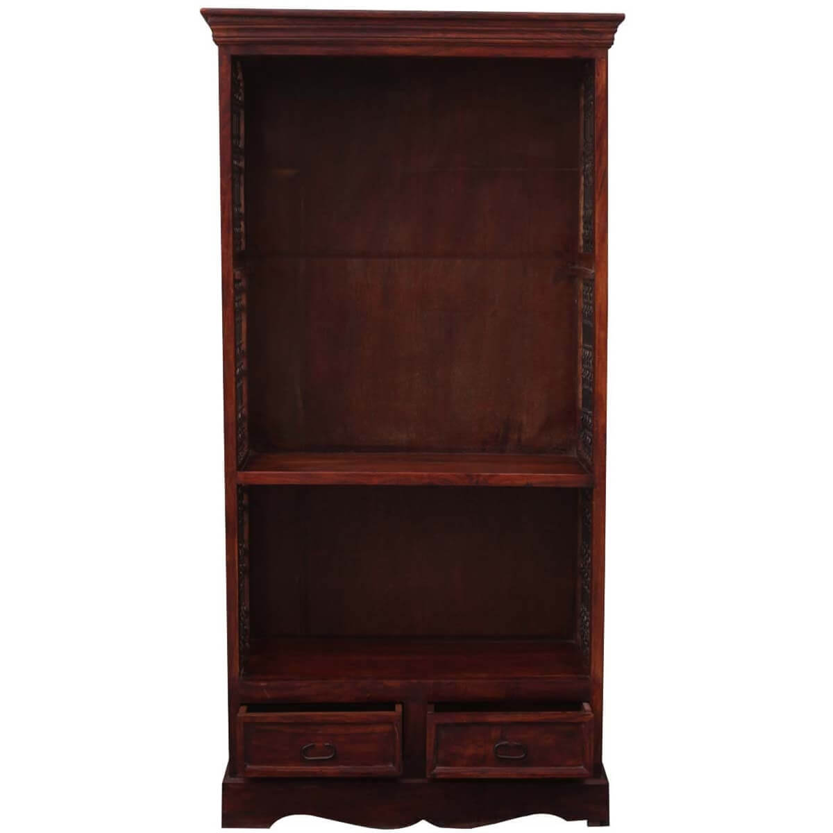 Wonderful image of  71 Tall Solid Wood & Wrought Iron 3 Shelf Display Single Bookcase with #B48317 color and 1200x1200 pixels