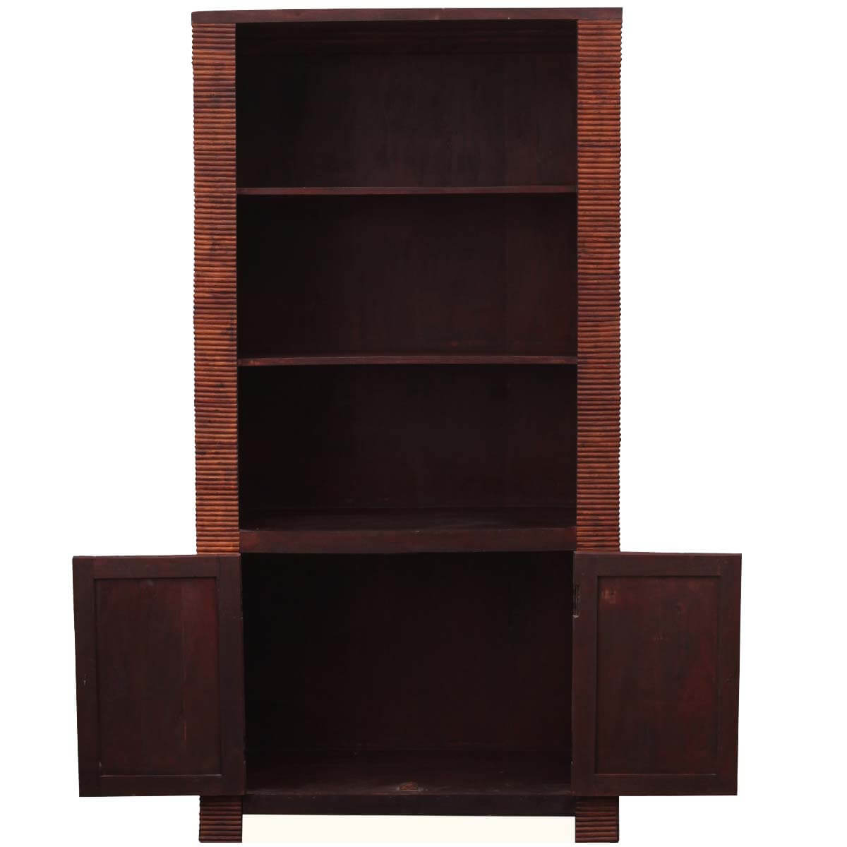 Solid Wood Bookcase Carved Solid Wood Bookcase Cabinet