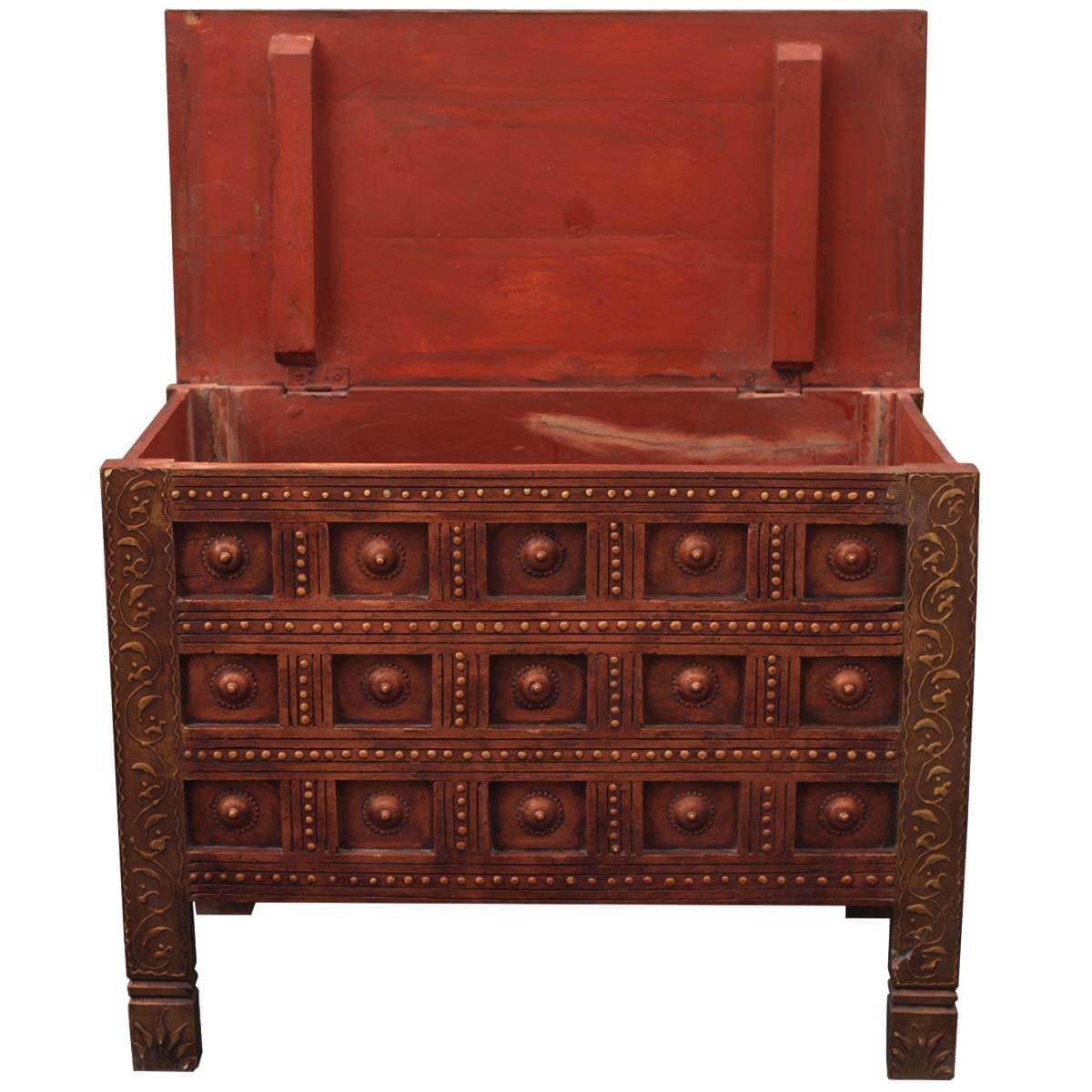 Wonderful image of Home Artisan Collection Large Rustic Solid Wood Storage Chest with #B27F19 color and 1200x1200 pixels