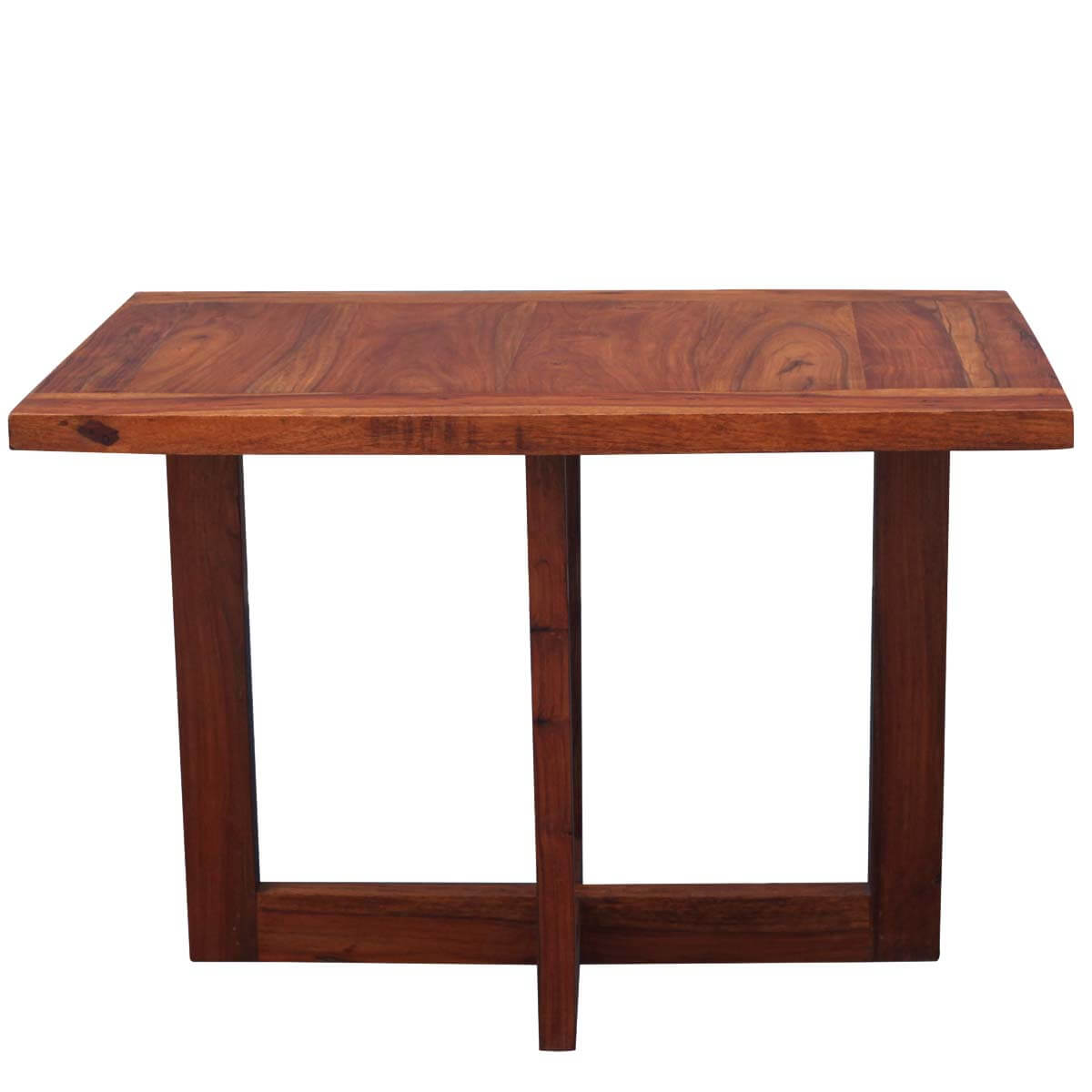 Solid Wood 2 Frame Pedestal Coffee Table