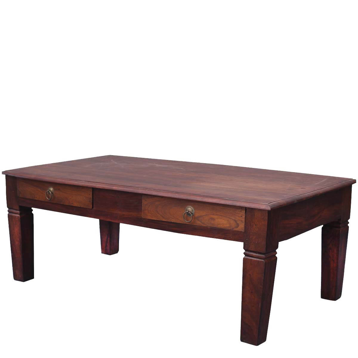 Superb img of  Craftsman Collection Solid Wood Rustic Coffee Table w Storage Drawers with #B27F19 color and 1200x1200 pixels