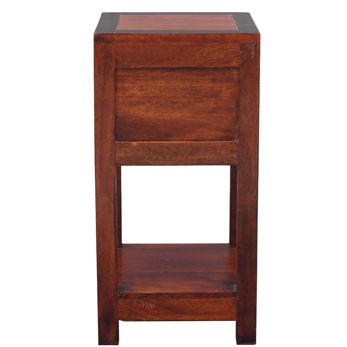 two tier end table with drawer