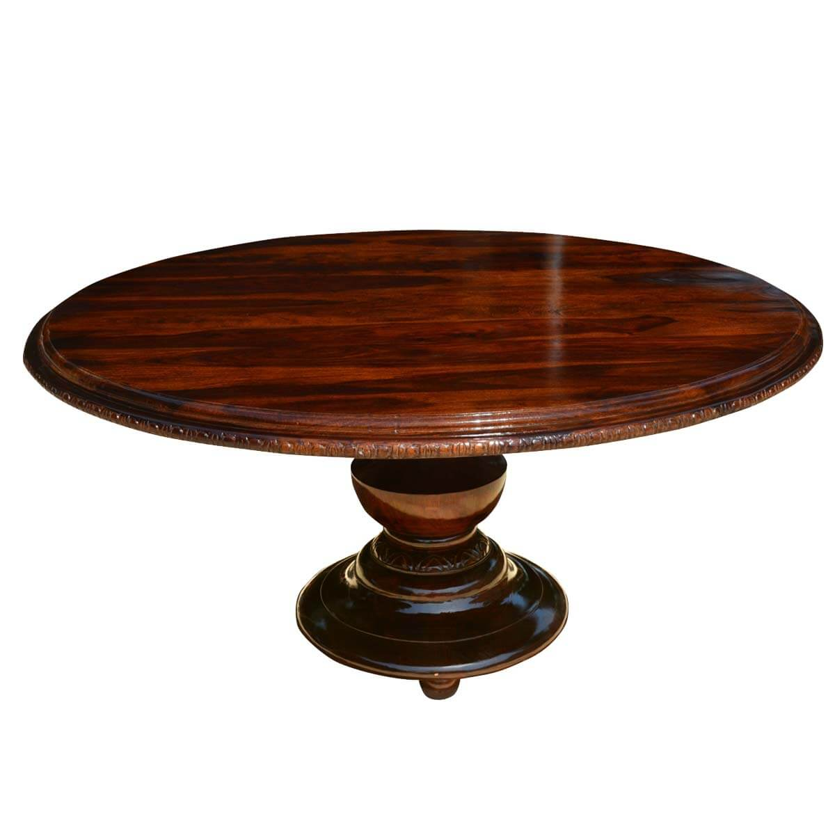 Dining Room Dining Tables Rustic Solid Wood Pedestal Round Dining