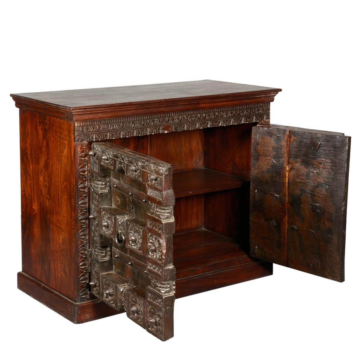 Gothic Hand Carved Reclaimed Hardwood Sideboard Cabinet Buffet : 46882 from www.sierralivingconcepts.com size 1200 x 1200 jpeg 138kB