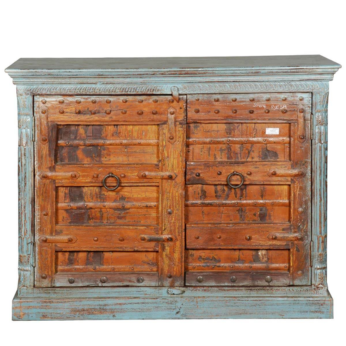 Marvelous photograph of  Collection Rustic White Washed Reclaimed Wood Buffet Sideboard Cabinet with #9C5B2F color and 1200x1200 pixels