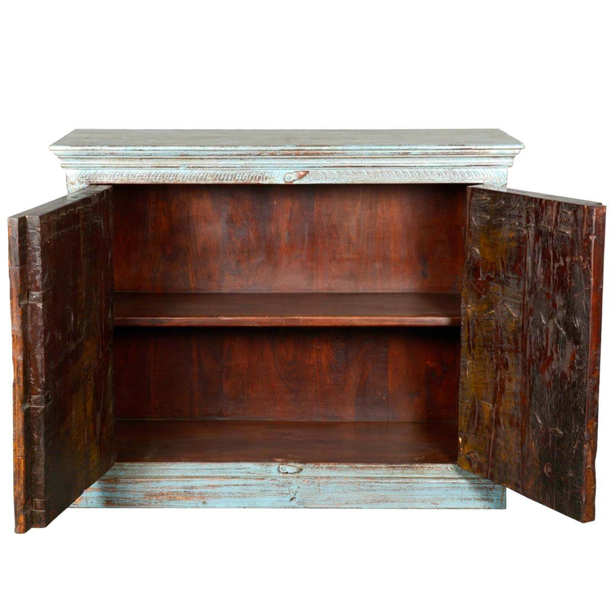 Marvelous photograph of  Collection Rustic White Washed Reclaimed Wood Buffet Sideboard Cabinet with #371C10 color and 1200x1200 pixels