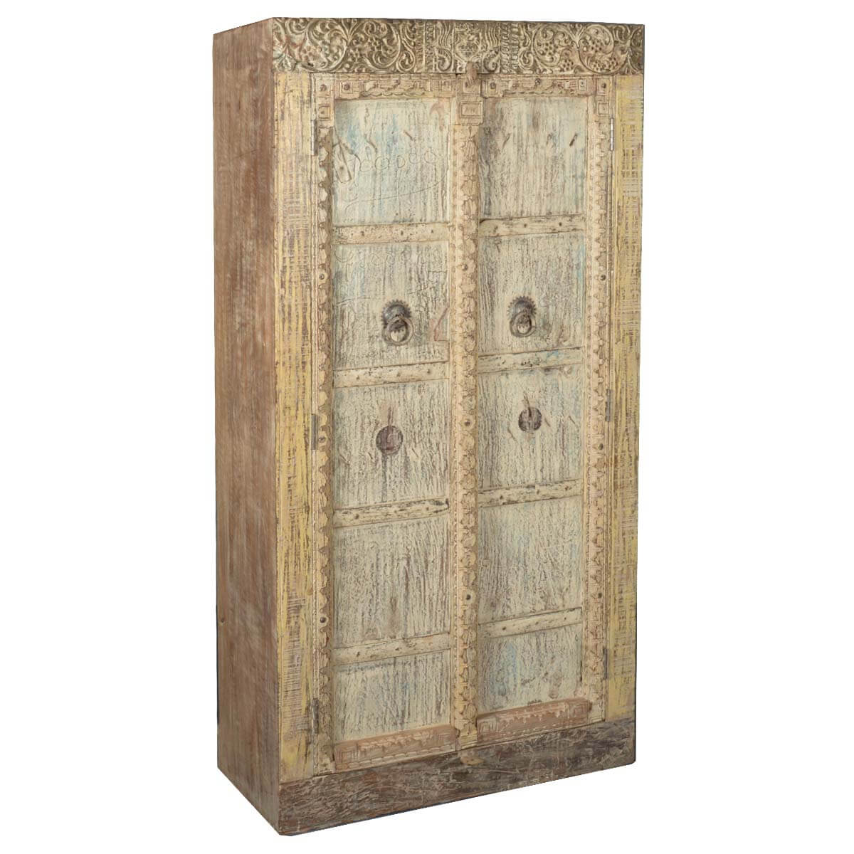 Rustic Reclaimed Wood 72 Storage Armoire Cabinet. Full resolution  portrait, nominally Width 1200 Height 1200 pixels, portrait with #AB8020.