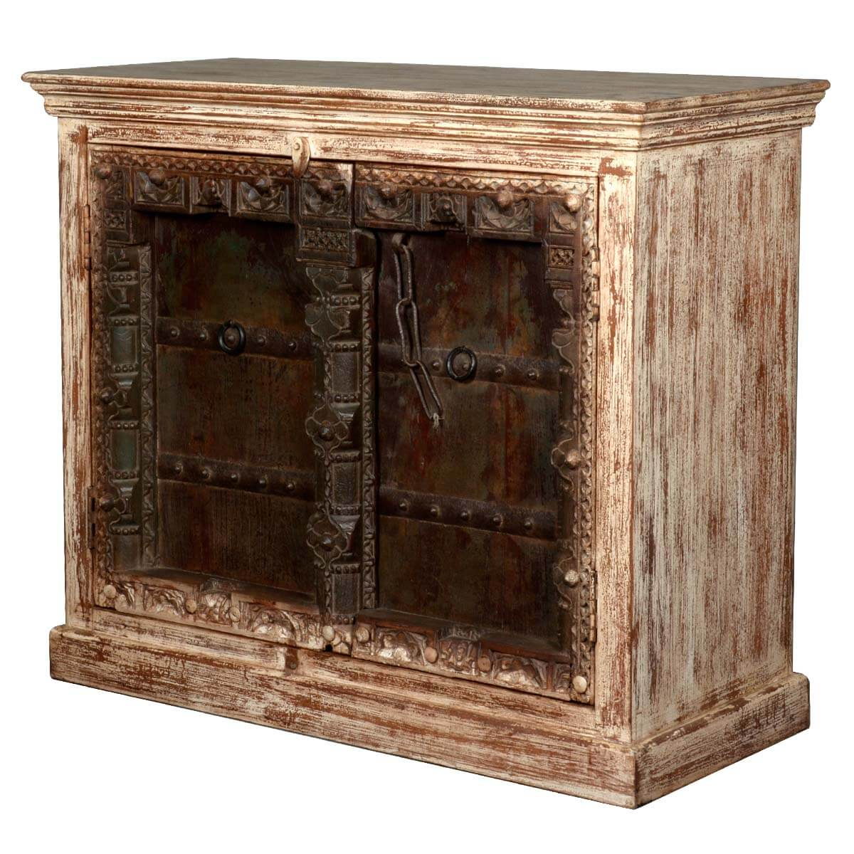 Reclaimed Wood Furniture Gothic Antique Rustic Sideboard