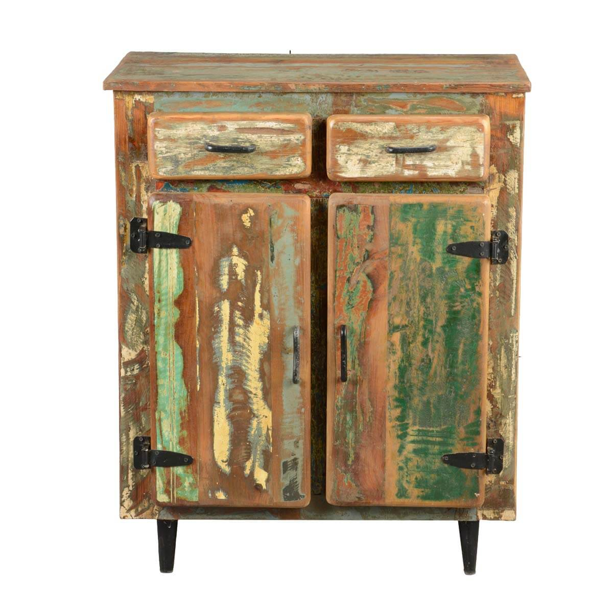 Cabinets & Rack Appalachian Rustic Painted Old Wood Standing Kitchen